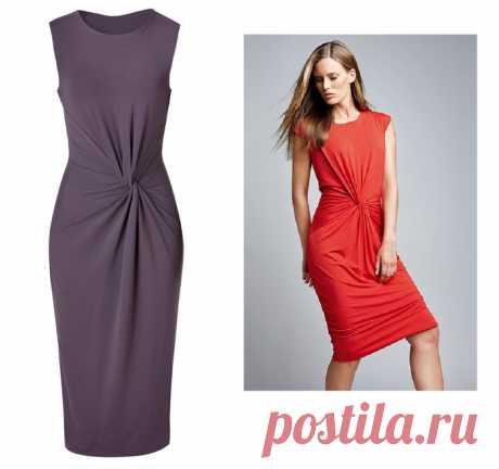 [Шитье] Платье с Х-драпировкой по мотивам платья от Michael Kors. Мастер-класс
