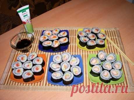Как приготовить суши - рецепт, ингредиенты и фотографии