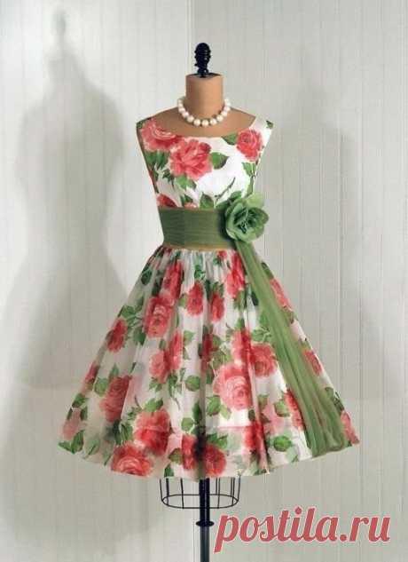 Шьем платье в винтажном стиле (Шитье и крой) – Журнал Вдохновение Рукодельницы