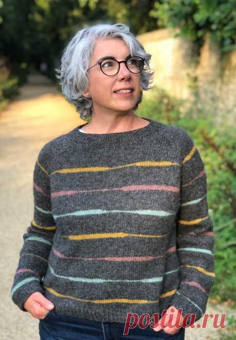 Полосатый пуловер Oles - Вяжи.ру