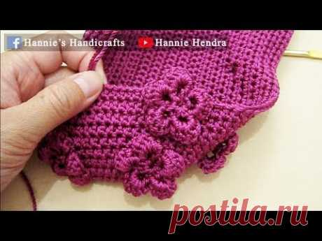 Mini Crochet Tutorial || [No Sound] Merajut Motif Bunga Bunga