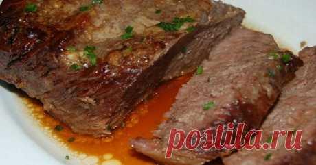 Самая мягкая говядина из всех, что доводилось пробовать! Хитрый способ запекания в особом соусе. Без горчицы и уксуса!