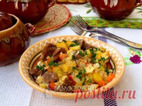 Жаркое с мясом в горшочках — рецепт с фото пошагово