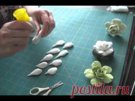 Гардении из полимерной глины. Видео. | Творческие мастер-классы по рукоделию и кулинарии.