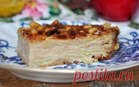 Холодный яблочный пирог с коньяком — Кулинарная книга - рецепты с фото