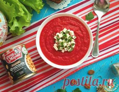 Свекольно-фасолевый суп-пюре – кулинарный рецепт