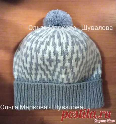 Жаккардовая шапочка для девочки (спицы, схема) - Страна Мам