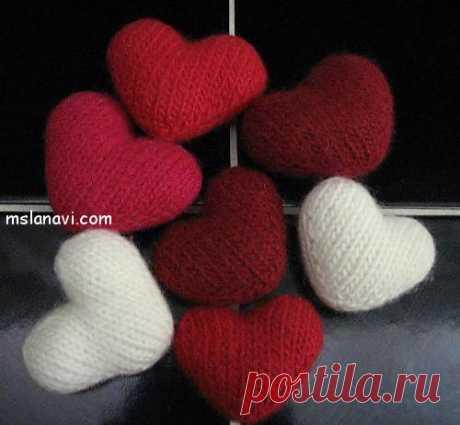 Вязаные сердечки на День влюбленных | Вяжем с Лана Ви