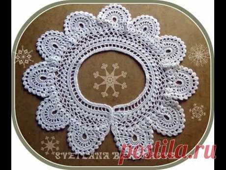 Кружевной воротничок - вариант 2. Crocheted collar