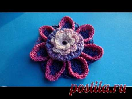 Crochet flower pattern Knitted flowers Lesson 66