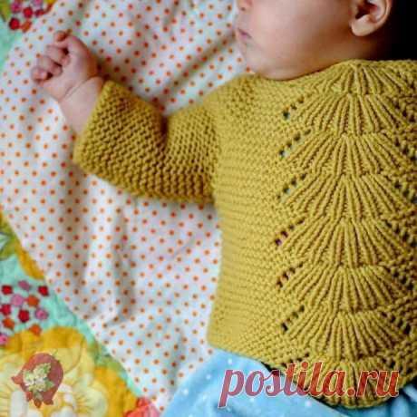 """Стильный пуловер """"Камилла"""" спицами, вяжем детям"""