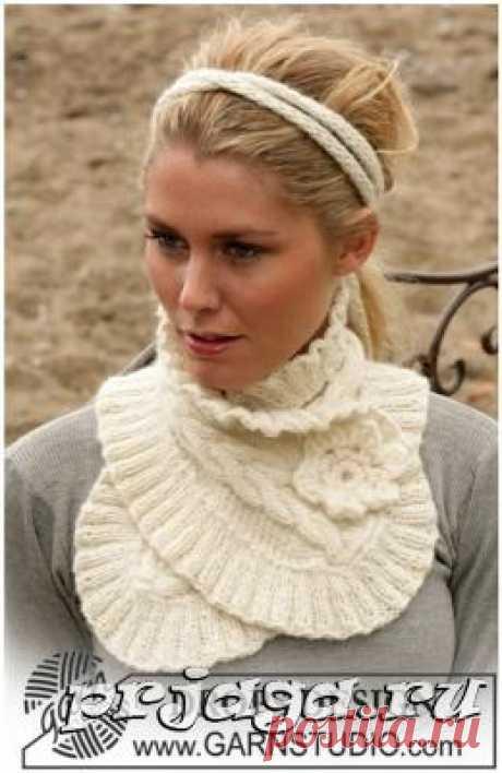 Короткий шарфик спицами