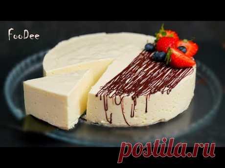 Нежный десерт БЕЗ сахара, муки и масла – всего 100 калорий на 100 г! - YouTube Творог – 600 г (можно брать любой жирности, у меня нежирный) Яйцо – 2 шт. Мед – 100 г (десерт получается несладким, можно увеличить до 150-200 г) Ванилин – на кончике ножа Крахмал – 40 г Молоко – 500 г (крем) + 100 г (для желатина) Желатин – 18-20 г