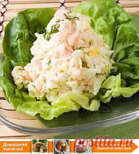 Рецепт: Салат из креветок с яйцами - все рецепты России