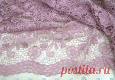 Макраме - розовое с ажурными краями - купить ткань онлайн через интернет-магазин ВСЕ ТКАНИ