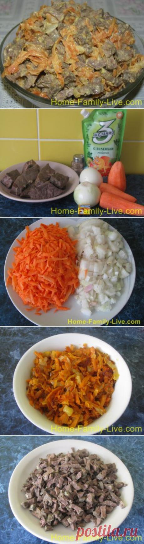Салат из легкого - пошаговый фоторецепт салата из легкогоКулинарные рецепты