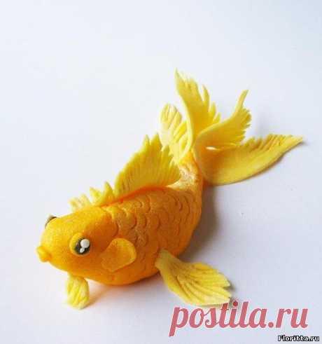 Рыбка из полимерной глины. Мастер-класс и фото идеи - Флоритта