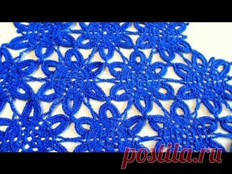 МК Красивый мотив крючком. MK Beautiful crochet motif.