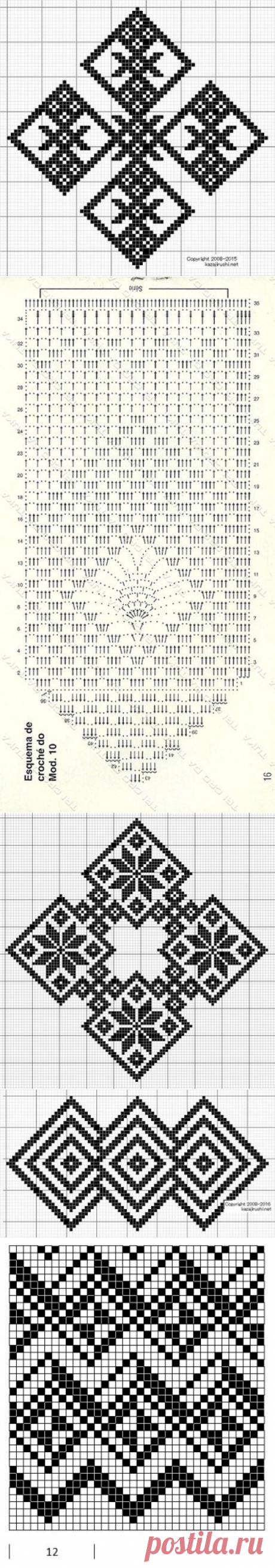 Филейные схемы ромбы