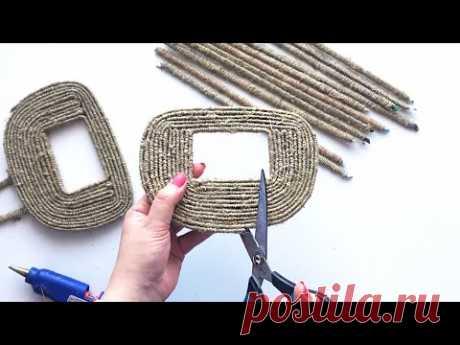 DIY: 2 Ideas of Jute Wicker Basket | Jute idea | Paper craft
