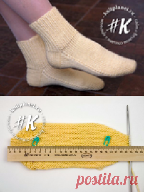 Socks on two spokes without seam. Easy way (Direct heel)