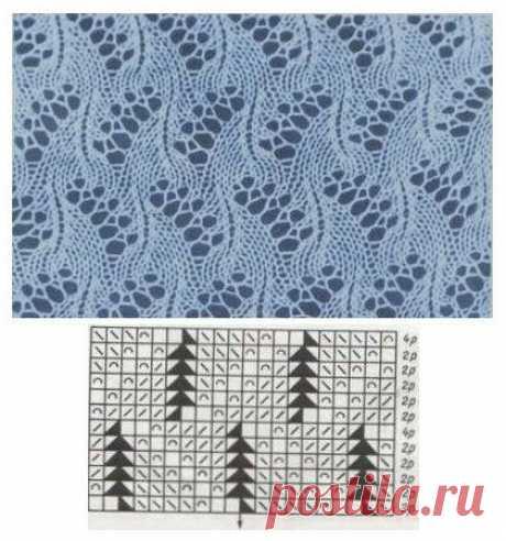 Узоры для воздушных палантинов спицами #knitting #вязание_спицами #палантины_спицами #шарфы_спицами