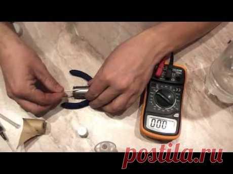 Видео восстановление NI-Cd никель кадмиевого аккумулятора 1,2 вольт от шуруповёрта