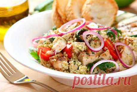 Салат с пшеном и курицей – пошаговый рецепт с фото.