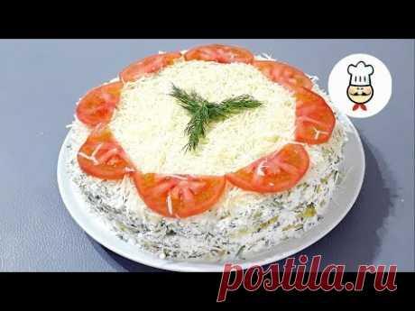 КАБАЧКОВЫЙ ТОРТ / Самая вкусная закуска / Рецепты из кабачков