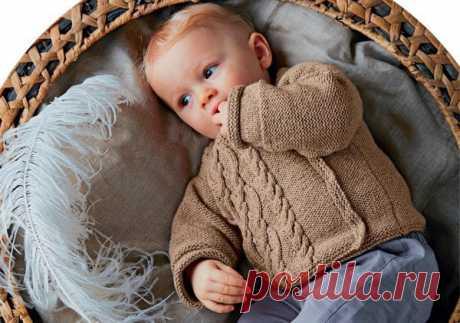 Детский жакет спицами от 1 до 12 месяцев - Портал рукоделия и моды