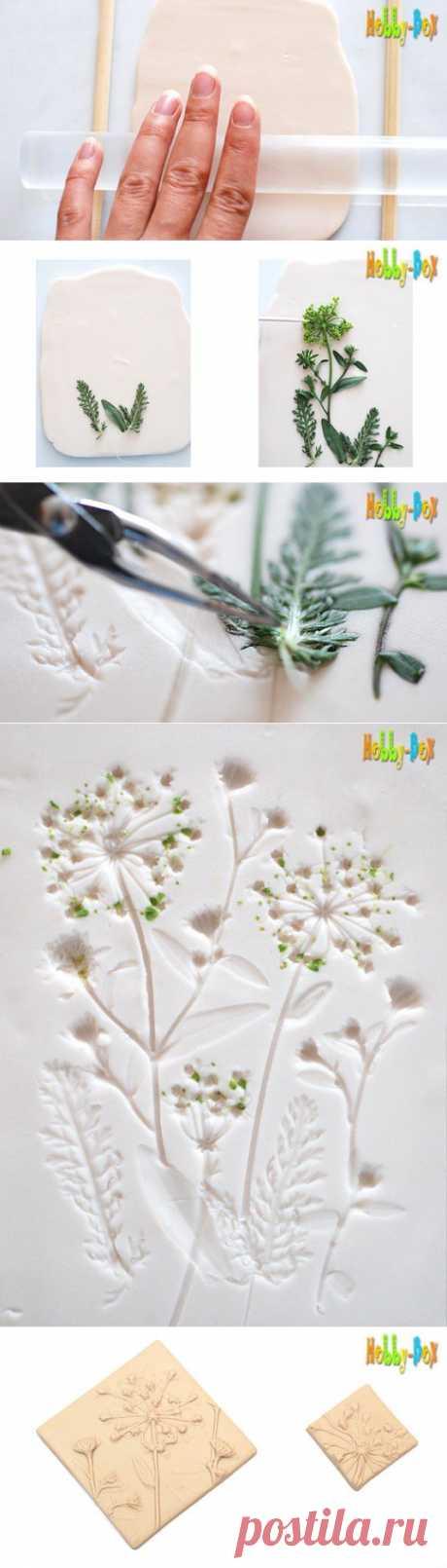 (+1) - Текстурный лист с растительными мотивами | СДЕЛАЙ САМ!