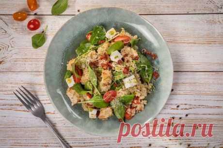Салат со шпинатом с курицей и сыром – пошаговый рецепт с фото.