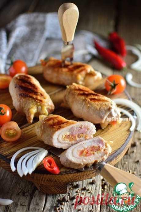 Свиные гриль-рулетики с томатной сальсой - кулинарный рецепт