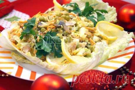 Салат «Зимний улёт» Скоро Новый год, а в меню на новогодний стол еще один салат будет всегда кстати! Салат «Зимний улёт» подойдет всем, кто ищет необычные рецепты салатов на Новый год.