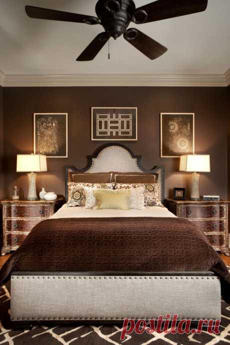 Шоколадная спальня: 15 фото современных и красивых спален