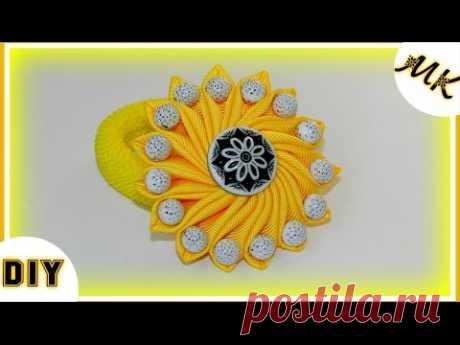DIY: Солнечный  бантик с бусинами/Sunny bow with beads