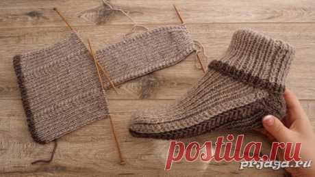 Мужские носки на двух спицах Описание: https://prjaga.ru/vyazanie-dlya-muzhchin/noski-tapki/muzhskie-noski-na-dvuh-spicah