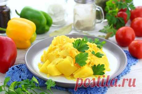 Картошка с квашеной капустой тушеная в казане рецепт с фото пошагово - 1000.menu