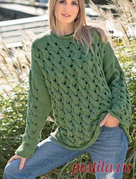 Пять интересных моделей связанных спицами + описание и схемы | Вязать легко/knitting | Яндекс Дзен