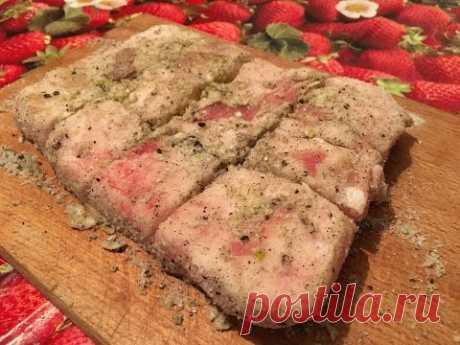 Соленое сало за 5 минут   самый вкусный рецепт от бабушки