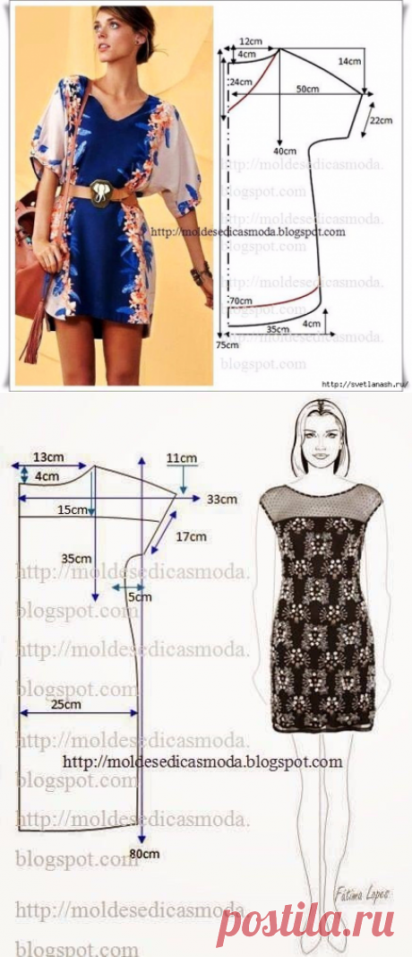 SUMMER DRESSES AND SUNDRESSES WITH SIMPLE PATTERNS. THE BIG SELECTION