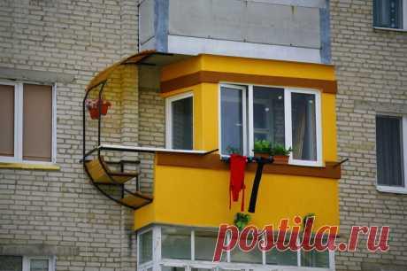 Блестящие идеи по реконструкции балконов