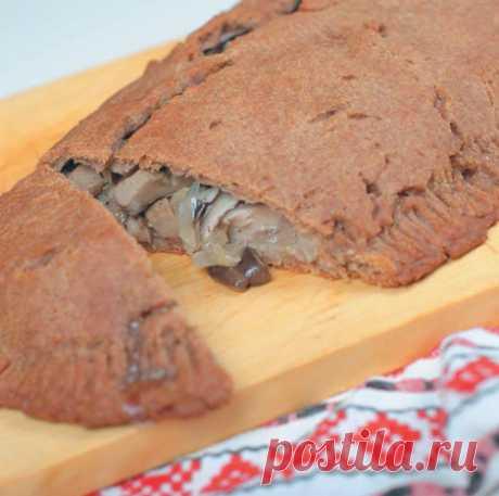 Рецепт постного пирога с солеными грибами — Фактор Вкуса