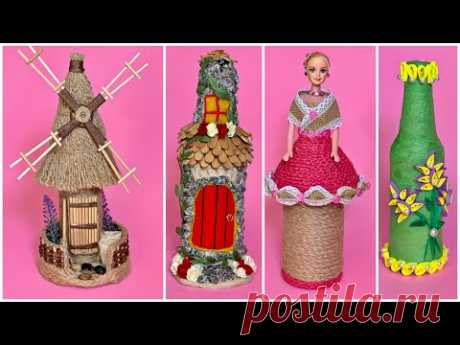 4 Diy Bottle Decoration/ Bottle Decorating From Different Materials