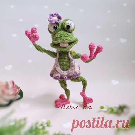 PDF Лягушка Тори крючком. FREE crochet pattern; Аmigurumi animal patterns. Амигуруми схемы и описания на русском. Вязаные игрушки и поделки своими руками #amimore - Лягушка, маленький лягушонок.