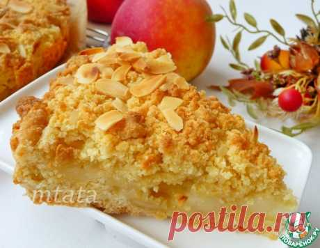 Песочный яблочный пирог – кулинарный рецепт
