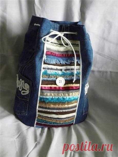 Рюкзак в стиле бохо своими руками