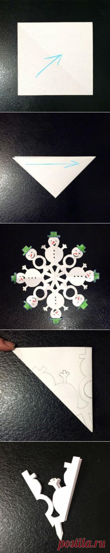 Необычные снежинки из бумаги — Поделки с детьми