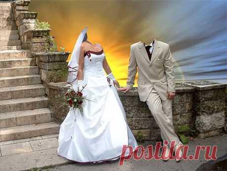 Скачать Шаблон для фото - Моя свадьба.