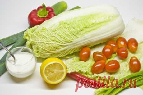 Салат из овощей с лимонно-луковой заправкой. Пошаговый рецепт с фото - Ботаничка.ru